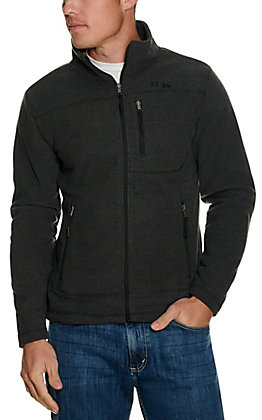 Panhandle Powder River Outfitters Men's Grey Waffle Knit Jacket