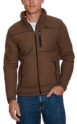 Panhandle Powder River Outfitters Men's Brown Waffle Knit Jacket