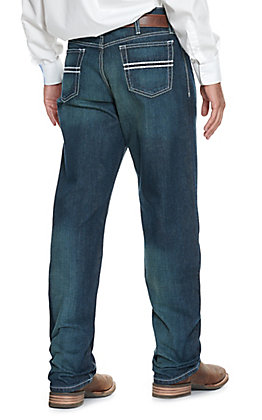 Cinch Men's White Label Dark Stonewash Relaxed Fit Straight Leg Jean