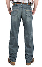 Cinch Men's Medium Wash White Lable Straight Leg Jeans