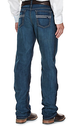 Cinch Men's White Label Dark Wash Relaxed Fit Straight Leg Performance Stretch Jean - Cavender's Exclusive