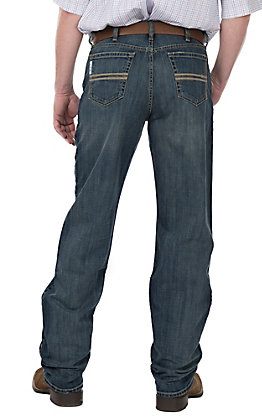 Cinch Men's White Label Distressed Medium Wash Relaxed Straight Leg Jeans