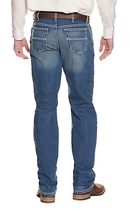 Cinch Men's White Label Medium Wash Relaxed Fit Straight Leg Performance Stretch Jean - Cavender's Exclusive