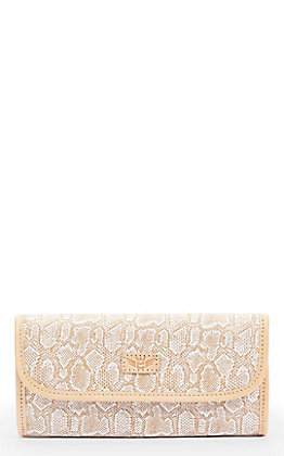 Consuela Clay with Ivory Snake Print Go-To Clutch Wallet