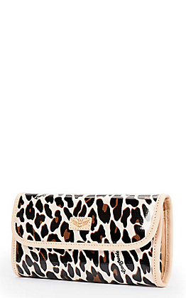 Consuela Mona Tan and Black Leopard Print Go-To Clutch Wallet