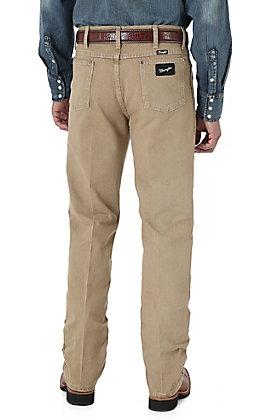Wrangler Cowboy Cut Silver Edition Tan Slim Fit Jeans