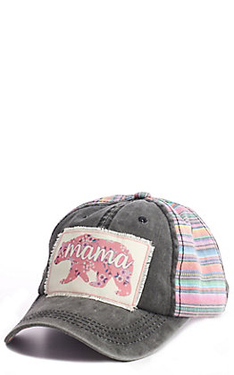 Southern Grace Women's Serape Mamma Bear Patch Cap