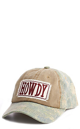 Ashlyn Rose Tan & Camo Howdy Patch Cap