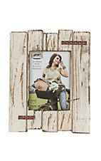 M&F White Distressed Wood Picture Frame
