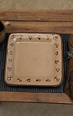 M&F Western Products Rustic Ranch 4 Piece Dinner Plate Set