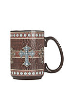Western Moments Leather with Cross Oversized Mug
