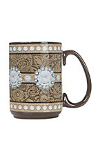 Western Moments Floral Studded Oversized Mug