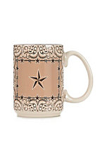 Western Moments Star and Barbed Wire Oversized Mug