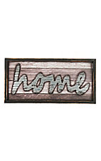 Western Moments Wood and Tin Home Sign