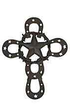 M&F Western Products Metal Horseshoe & Star Wall Cross
