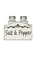 Western Moments Ivory Wood Salt and Pepper Shaker