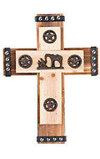 M&F Western Products Cowboy Prayer Wooden Wall Cross