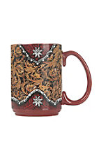 Western Moments Tooled Leather Oversized Mug