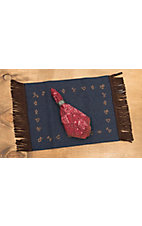 M&F Western Products Rustic Ranch Branded Denim 4 Piece Placemat Set
