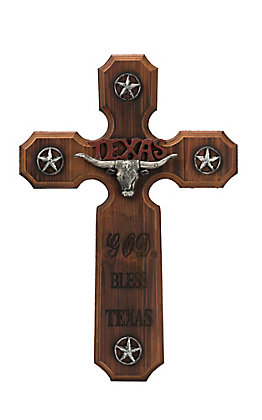 M&F Lone Star Wooden Wall Cross