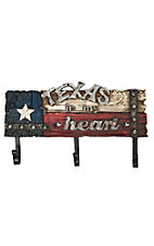 M&F Texas In My Heart Wall Hooks