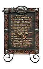 M&F Western Products 2-Piece Cowboy Commandments & Easel