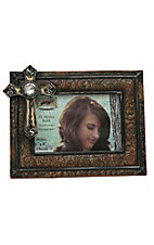 M&F Western Products Antique Brown Scroll w/ Faith Cross Frame 4x6