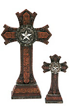M&F Western Products 2-Piece Table Top Cross Set