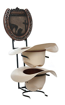 M&F Western Products Rustic Cowboy Prayer Hat Shelf
