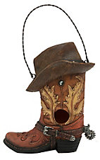 M&F Cowboy Boot with Hat Birdhouse