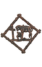 M&F Western Products Cowboy Prayer Trivet