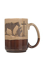 Western Moments Cowboy Prayer Oversized Mug