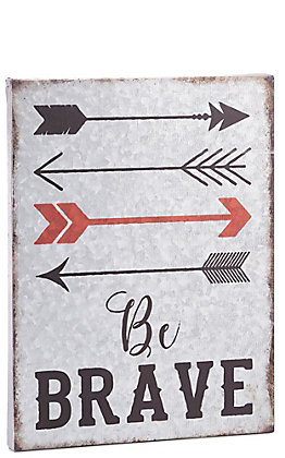 Western Moments Be Brave Arrows Metal Wall Decor