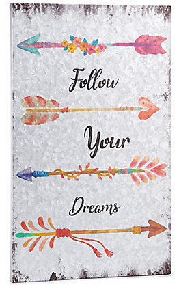 Western Moments Follow Your Dreams Arrows Metal Wall Decor