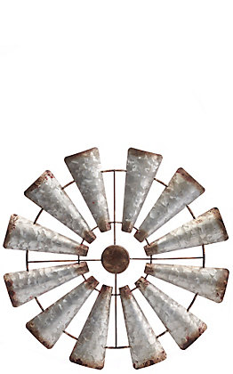 Western Moments Metal Rustic Windmill Wall Decor