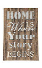Western Moments Home Is Where Galvanized Metal and Wood Sign