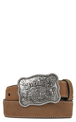 Cavender's Medium Brown Strap Western Belt 9600244
