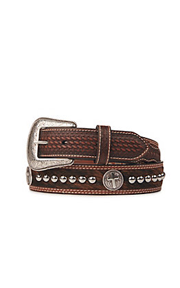 Cavender's Men's Brown Accented Belt