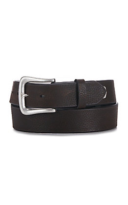 Cavender's Men's Chocolate Aged Bark Leather Belt