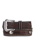 Cavender's Belt Collection Concho Embossed Billets Western Belt