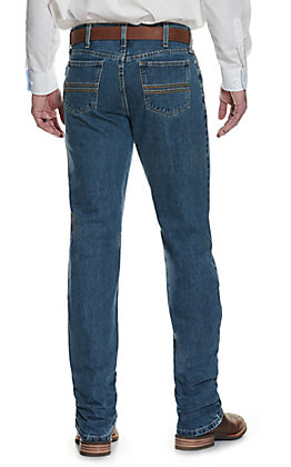 Cinch Men's Silver Label Medium Stonewash Slim Fit Straight Leg Jean