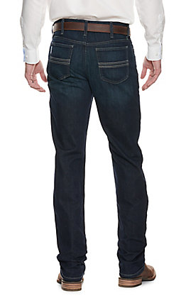 Cinch Men's Silver Label Dark Wash Slim Fit Straight Leg Performance Stretch Jean