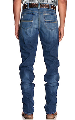 Cinch Men's Silver Label Medium Wash Slim Fit Straight Leg Jeans