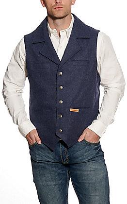 Powder River Men's Heather Indigo Blue Montana Wool Vest