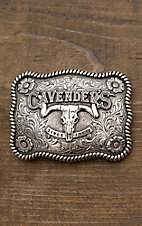Nocona Children's Silver Cavender's Logo Rectangle Belt Buckle