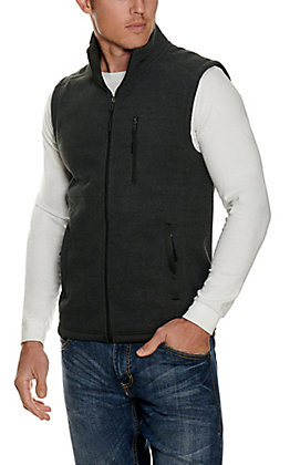 Panhandle Powder River Outfitters Men's Black Waffle Knit Vest