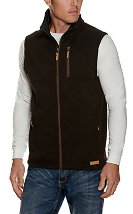 Panhandle Powder River Outfitters Men's Brown Sweater Knit Vest