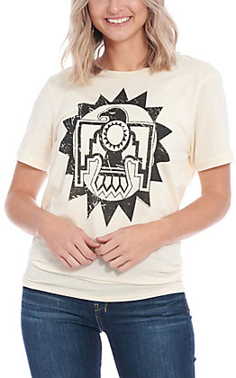 Benita Ceceille Women's Natural Thunderbird Graphic Short Sleeve T-Shirt
