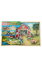 Country Farm Wooden Puzzle Set