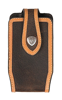 Ariat Rowdy Brown with Tan Trim Small Cell Phone Case